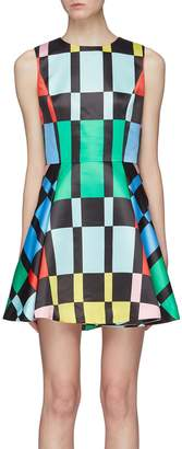 Alice + Olivia 'Stasia' Stace Face patchwork print sleeveless dress