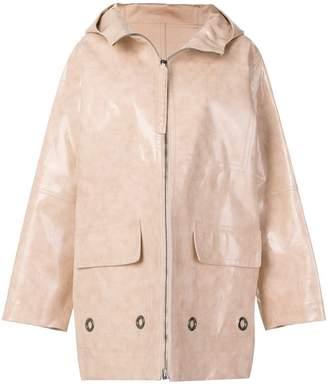 Bottega Veneta Brushed calf leather coat