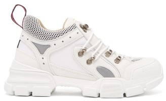 Gucci Flashtrek Leather Trainers - Womens - White