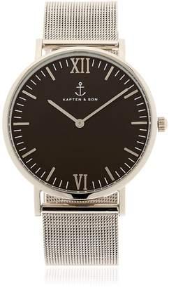 KAPTEN & SON 40mm Steel Mesh Watch