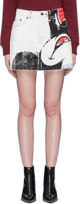Marc Jacobs x Disney Mickey Mouse print denim skirt