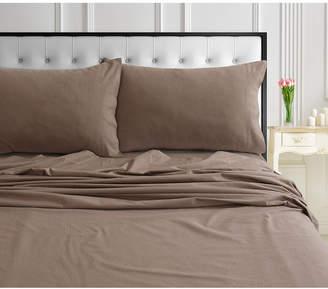 Ultrasoft Tribeca Living 170-GSM Ultra-Soft Cotton Flannel Solid Extra Deep Pocket Full Sheet Set