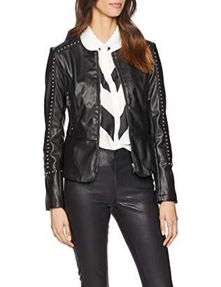 b732f310ffaf07 GUESS Women's Gwen Jacket Coat, (Jet Black A996 Jblk)