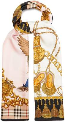 Burberry Archive-print silk scarf