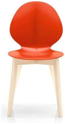 Calligaris Basil Wooden Chair, Bleached Beech Frame