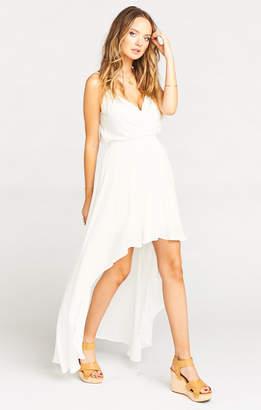 Show Me Your Mumu Molly Mullet Dress ~ White Challis