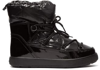 Moncler Ynaff Patent Leather Boots - Womens - Black