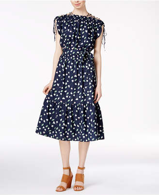 Maison Jules Printed Smocked Dress $99.50 thestylecure.com