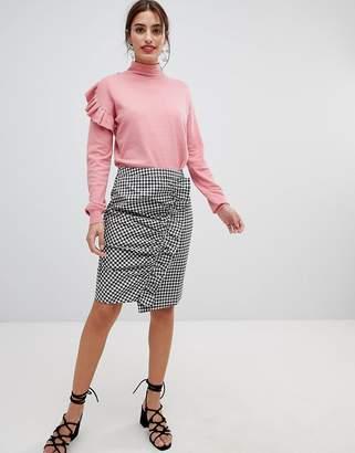NA-KD Side Frill Pencil Skirt