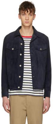 Loewe Navy Suede Jacket