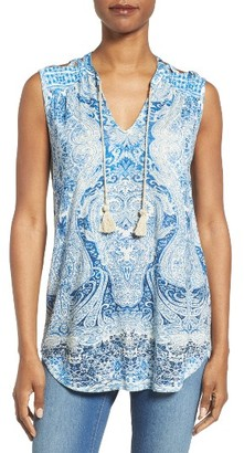Women's Lucky Brand Paisley Jersey Shell $49.50 thestylecure.com