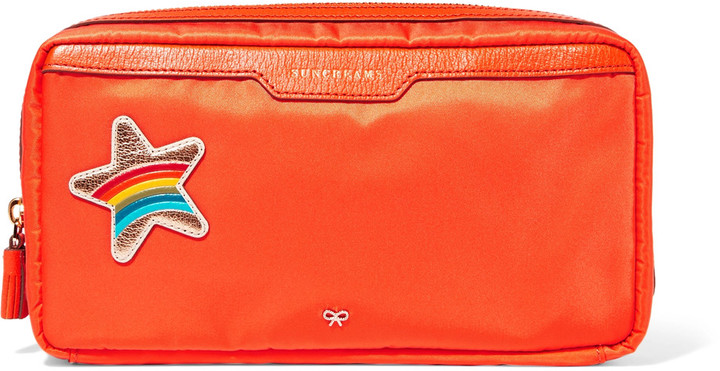 Anya Hindmarch Anya Hindmarch Suncreams leather-trimmed shell cosmetics case