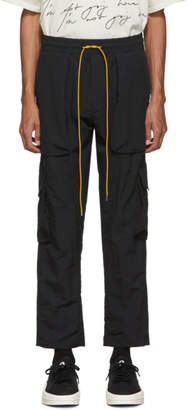 Rhude Black Nylon Cargo Pants