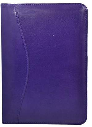 Royce Leather Kid's Junior Writing Padfolio, Purple