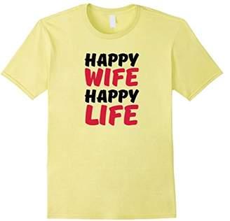 Happy Wife Happy Life - Love Wife Tee Shirt