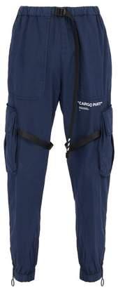 Off-white - Parachute Cotton Blend Cargo Trousers - Mens - Navy