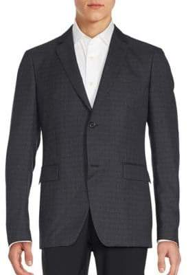 John Varvatos Speckled Plaid Blazer