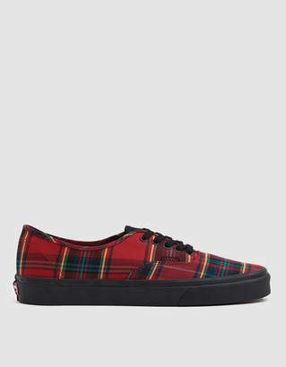 Vans Authentic Sneaker in Red/Black