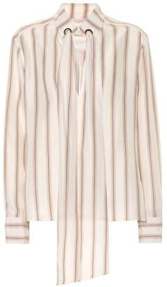 Chloé Striped silk satin blouse
