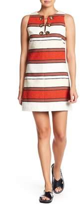Derek Lam 10 Crosby Grommet Detailed Striped Dress