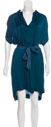 Lanvin Satin Tie-Front Dress