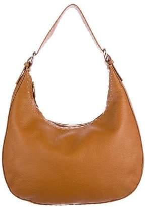 Fendi Pebbled Leather Selleria Hobo