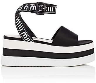 Miu Miu Women's Logo Platform Sandals - Nero