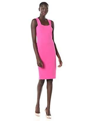 Betsey Johnson Women's Scuba Crepe Midi Dress with Exposed Zipper