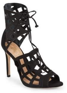 Schutz Blake Suede Cutout Sandals