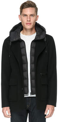 Soia & Kyo LUDOVIC straight-fit coat with removable puffy hood