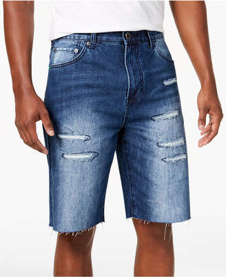 Lrg Men's Stroker Big & Tall Classic-Fit Destroyed Cutoff Denim Shorts