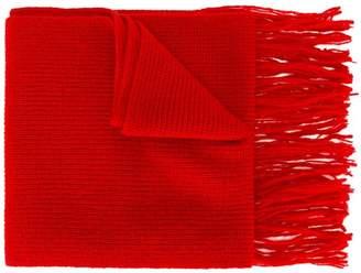 Ami Alexandre Mattiussi fisherman's rib knit scarf