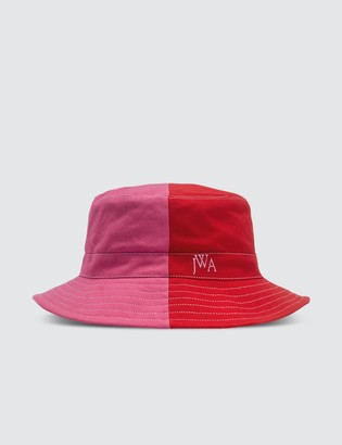 J.W.Anderson Red & Pink Color-blocked Bucket Hat