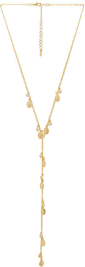 joolz by Martha Calvo Saint Medallion Bezel Lariat Necklace