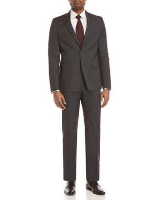 Versace Two-Piece Dark Grey Plaid Suit