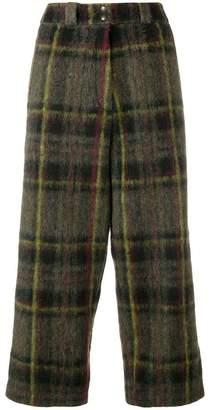 Marios cropped tartan trousers