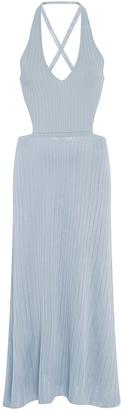 Cushnie et Ochs V-Neck Lace Up Midi Dress $1,095 thestylecure.com