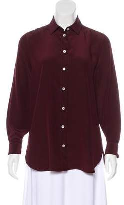 Celine Silk Long Sleeve Top