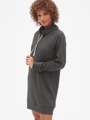 Gap Funnel-Neck Pullover Sweatshirt Dress