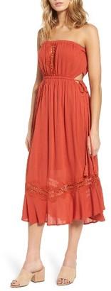 Women's Lush Lace Inset Strapless Dress $65 thestylecure.com