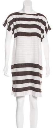 Lemlem Striped Oversize Short-Sleeve Dress