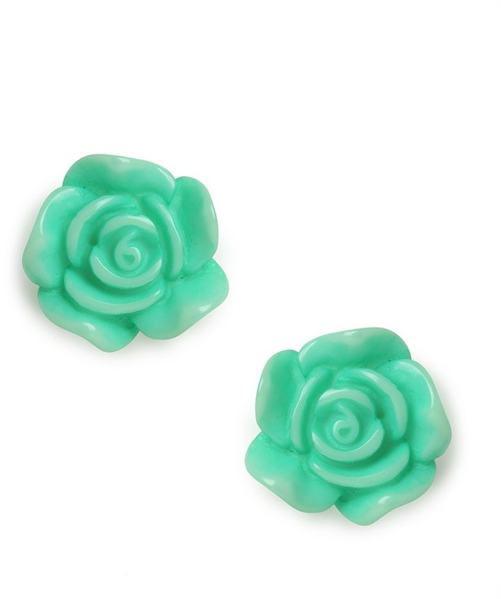 BaubleBar Mint Rose Studs
