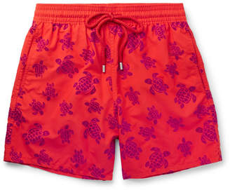 Vilebrequin Moorea Mid-Length Flocked Swim Shorts