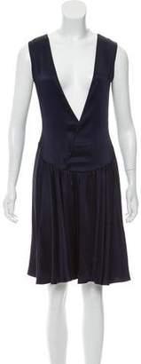 Celine Fluted Satin Dress
