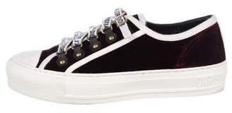 Christian Dior Walk'N'Dior Velvet Sneakers