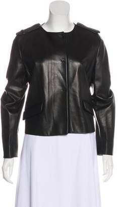Prada Leather Snap Jacket