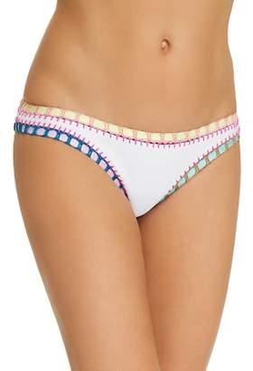 Solange Platinum inspired by Ferrarini Platinum Crochet Trim Scoop Bikini Bottom