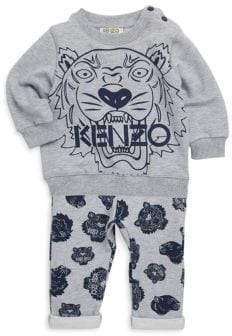 Kenzo Baby Boy's Tiger Sweater& Joggers Two-Piece Set