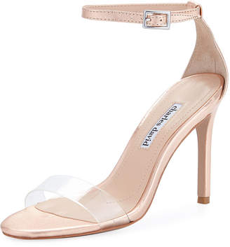 Charles David Cristal High Dressy Ankle Sandal, Rose Gold