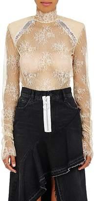 Off-White Women's Lace Mock Turtleneck Top